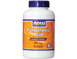NOW Foods Pantothenic Acid 500 mg, Capsules